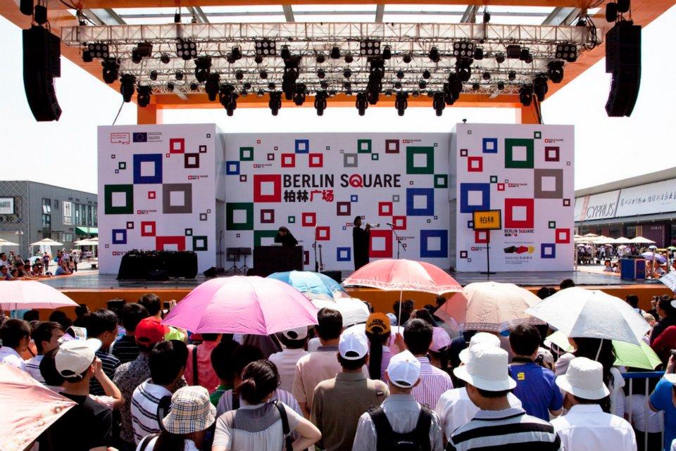 BERLIN SQUARE, siebentägiges Berlin Festival auf der EXPO in Schanghai, China