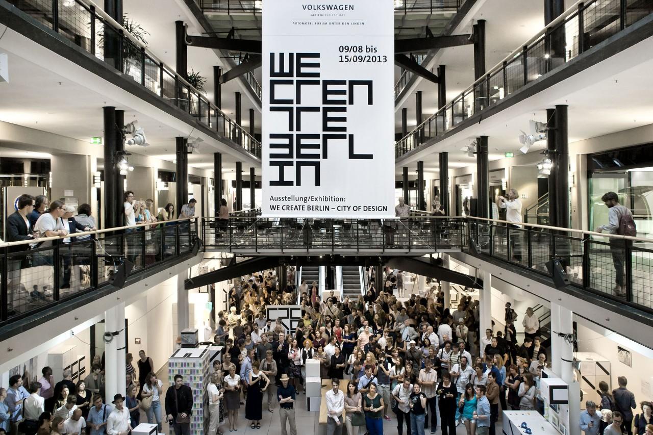 WE CREATE BERLIN, exhibition at the Volkswagen Automobil Forum, Berlin