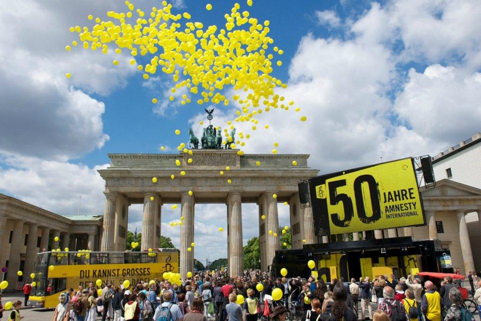 50 Years of Amnesty International, Festival at the Brandenburg Gate, Berlin