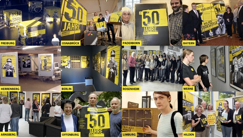 50 years of Amnesty International, exhibitions throughout Germany