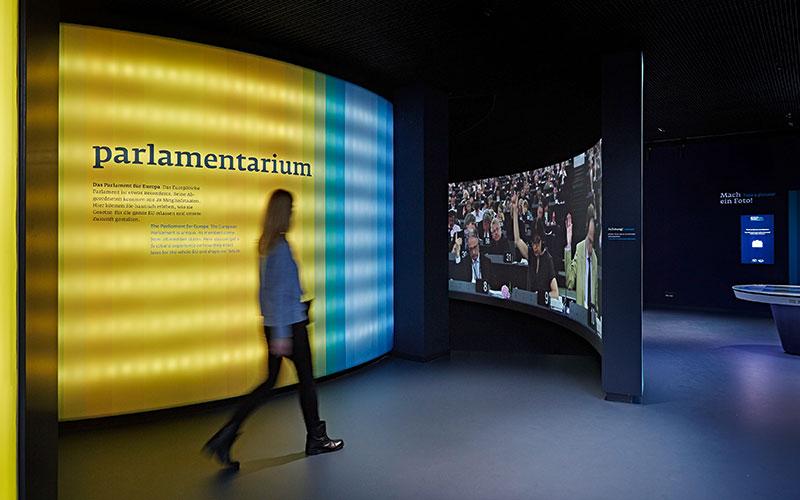 Parlamantarium, Brussels & Experience Europe, Berlin, 360° film experience
