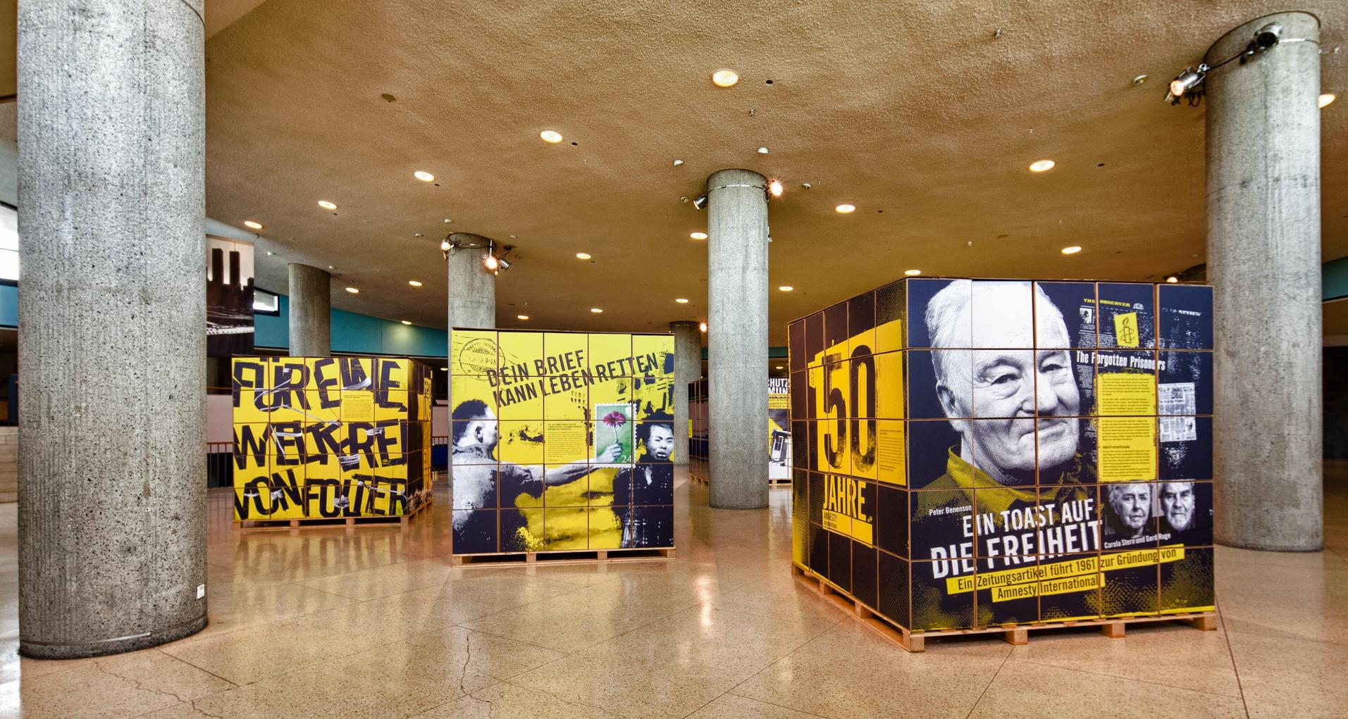50 Years of Amnesty International, exhibition at the Haus der Kulturen der Welt, Berlin